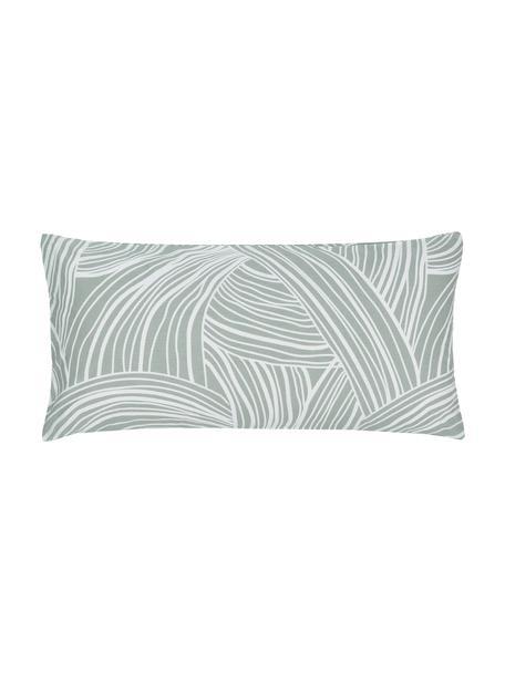 Poszewka na poduszkę z bawełny Korey, 2 szt., Zielony, biały, S 40 x D 80 cm