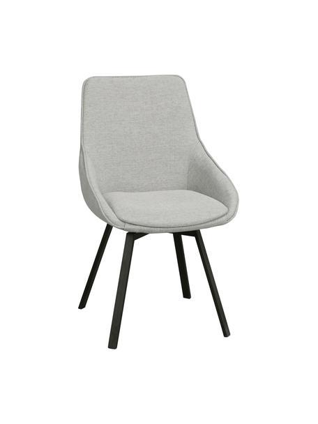 Gestoffeerde bureaustoel Alison, Bekleding: polyester De bekleding is, Poten: gepoedercoat metaal, Lichtgrijs, zwart, B 51 x D 57 cm
