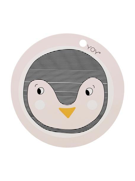 Placemat Penguin, Siliconen, Roze, zwart, oranje, Ø 39 cm