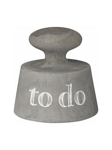 Przyciski do papieru To Do, Beton, Szary, Ø 8 x W 8 cm
