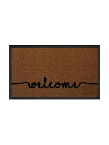 Zerbino in poliammide Cozy Welcome, Marrone, Larg. 45 x Lung. 75 cm