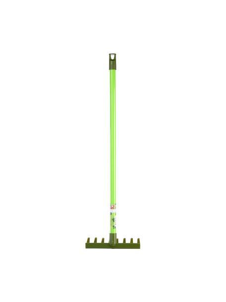 Rastrello per bambini Little Gardener, Materiale sintetico (PP, PVC), Tonalità verdi, Larg. 20 x Alt. 70 cm