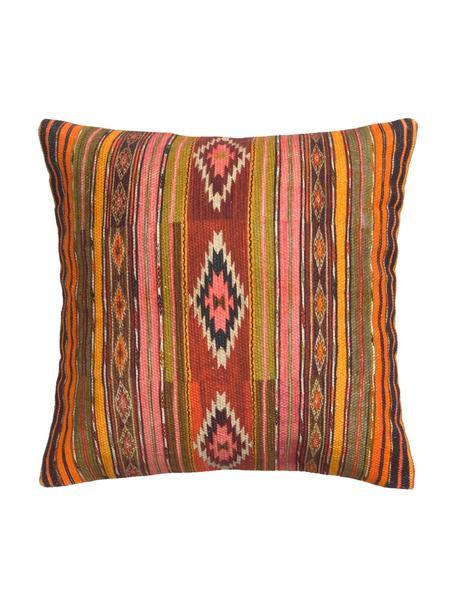 Federa arredo con fantasia etnica Kusa, 100% cotone, Multicolore, Larg. 45 x Lung. 45 cm