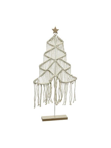 Figura decorativa Winter, Estructura: metal, recubierto, Blanco, marrón, Al 215 cm