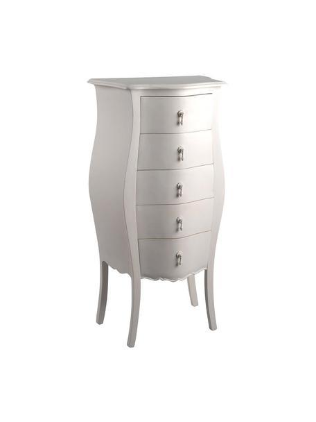 Cómoda Murano, Tablero: cajones, Blanco, An 55 x Al 110 cm