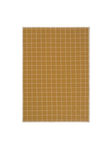 Geschirrtücher Karura, 2 Stück, Baumwolle, Senfgelb, 50 x 70 cm