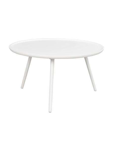 Salontafel Daisy, Tafelblad: MDF, Poten: gelakt rubberhout, Wit, Ø 80 cm