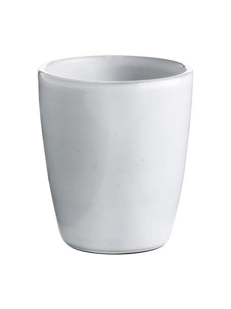 Keramische beker Haze in wit, 2 stuks, Geglazuurd keramiek, Wit, grijs, Ø 10 x H 11 cm