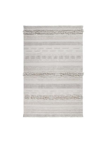 Alfombra texturizada Air, Parte superior: 97%algodón reciclado, 3%, Reverso: algodón reciclado, Beige, An 140 x L 200 cm (Tamaño S)