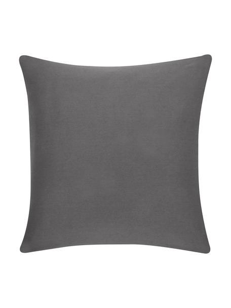 Federa arredo in cotone grigio scuro Mads, 100% cotone, Grigio scuro, Larg. 40 x Lung. 40 cm