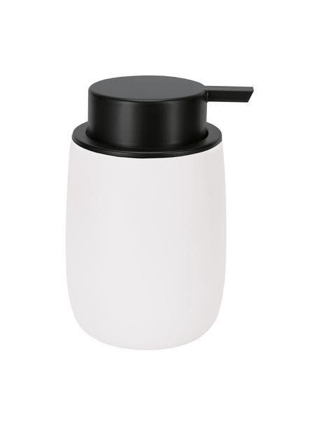 Dozownik do mydła z poliresingu Bonny, Poliresing, Biały, Ø 9 x W 13 cm