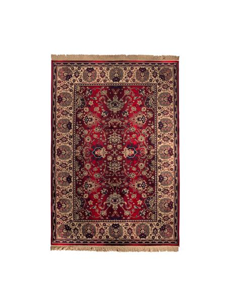 Dywan w orientalnym stylu Bid, Dywan: czerwony i beżowy Frędzle: beżowy, S 170 x D 240 cm