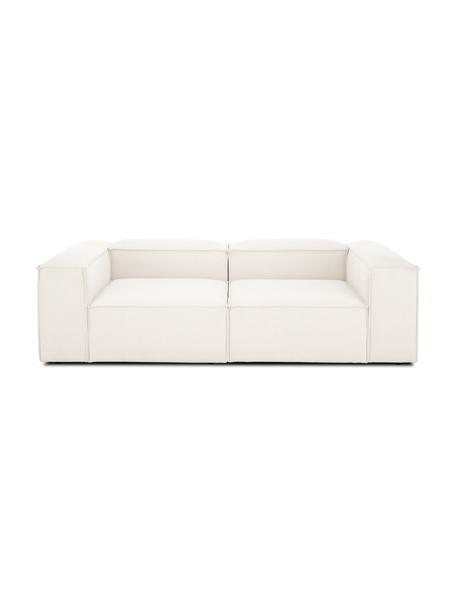 Modulares Sofa Lennon (3-Sitzer) in Beige, Bezug: Polyester Der hochwertige, Gestell: Massives Kiefernholz, Spe, Webstoff Beige, B 238 x T 119 cm