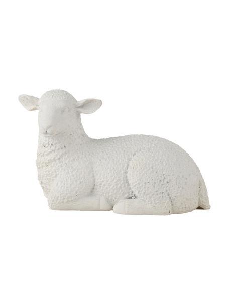 Deko-Objekt Lenny, Kunststoff, Weiß, 13 x 8 cm
