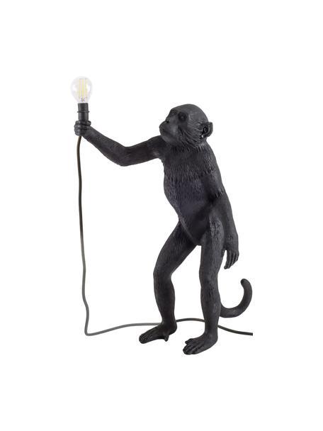 Lámpara de mesa para exterior de diseño Monkey, con enchufe, Lámpara: resina, Cable: plástico, Negro, An 46 x Al 54 cm