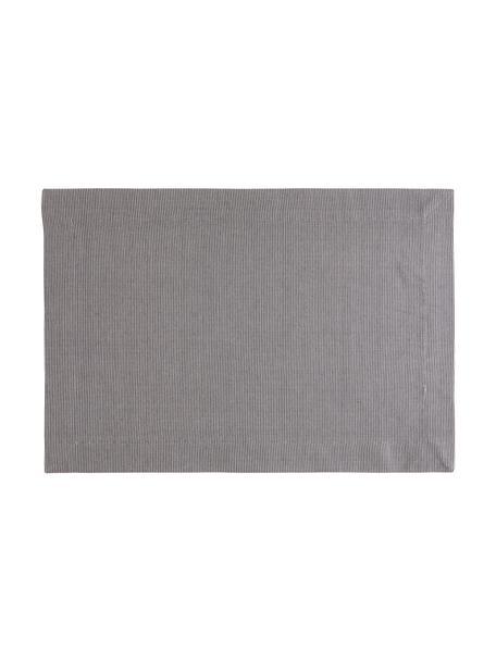 Placemats Bombay, 2 stuks, Katoen, Grijs, 35 x 50 cm