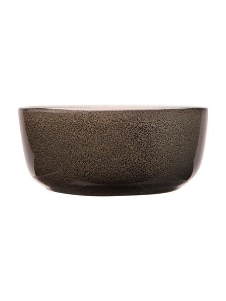 Kommen Ceylon, 2 stuks, Keramiek, Bruin, groentinten, Ø 15 cm