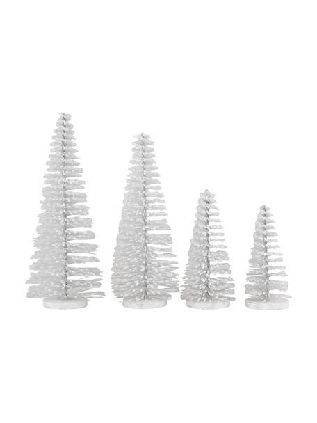 Deko-Objekt-Set Glam, 4-tlg., Kunststoff, Metall, Weiss, Set mit verschiedenen Grössen