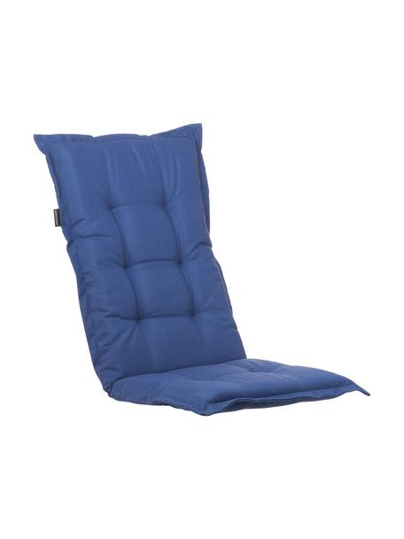 Cojín para silla con respaldo Panama, Funda: 50%algodón, 50%poliéste, Azul marino, An 50 x L 123 cm