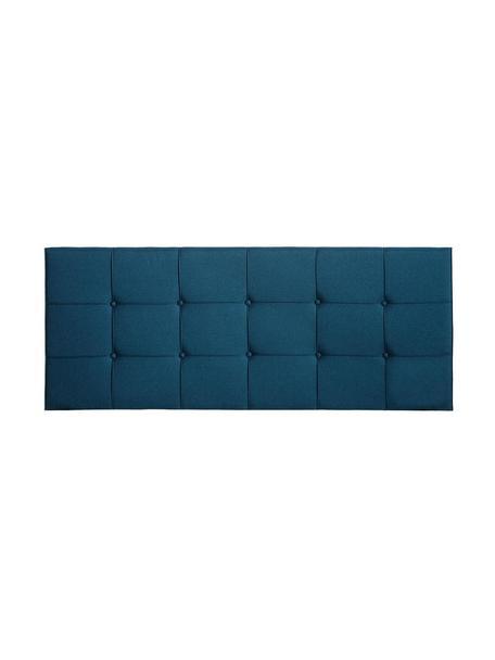 Cabecero Simi, Tapizado: poliéster, lino, Estructura: madera de eucalipto, made, Azul, An 160 x Al 64 cm