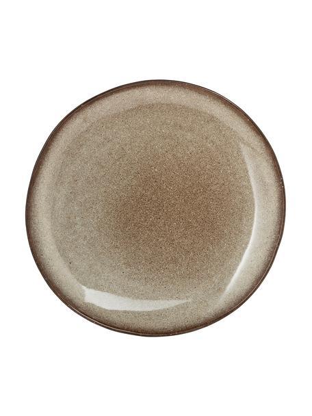 Piatto piano fatto a mano beige Sandrine, Terracotta, Tonalità beige, Ø 29 x Alt. 3 cm