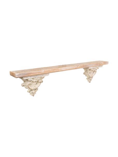 Estante de madera de abeto Marino, Tablero: madera de abeto, Blanco, Marrón, An 120 x Al 28 cm