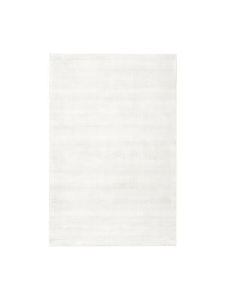 Tappeto in viscosa tessuto a mano Jane, Retro: 100% cotone, Avorio, Larg. 120 x Lung. 180 cm (taglia S)