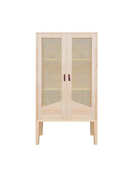 Armario de madera de pino Forest, Estructura: madera de pino, Beige, An 70 x Al 145 cm