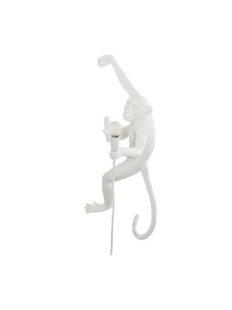 Wandleuchte The Monkey mit Stecker, Weiß, 21 x 77 cm