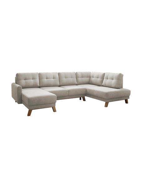 Sofá cama rinconero Balio, Tapizado: tela, Beige, marrón, An 310 x F 192 cm