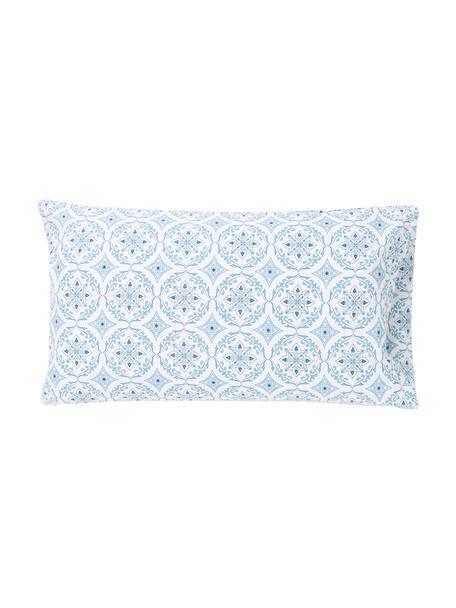 Fundas de almohada Crackle, 2uds., Algodón, Blanco, azul, An 50 x L 80 cm