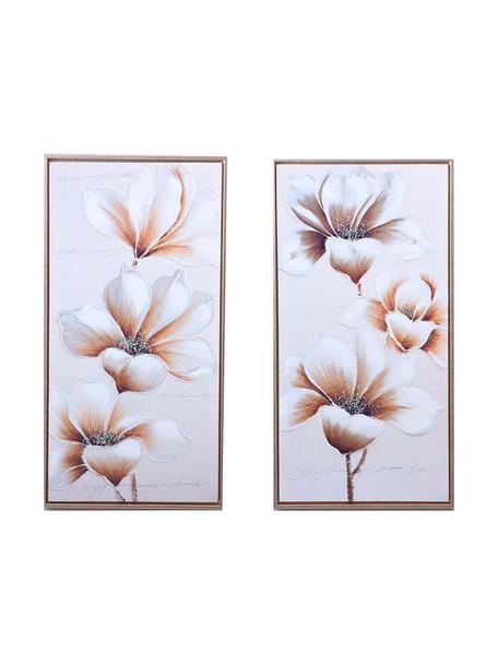 Set de cuadros sobre lienzo enmarcados Ferdinand, 2pzas., Estructura: madera de pino, Multicolor, An 43 x Al 83 cm