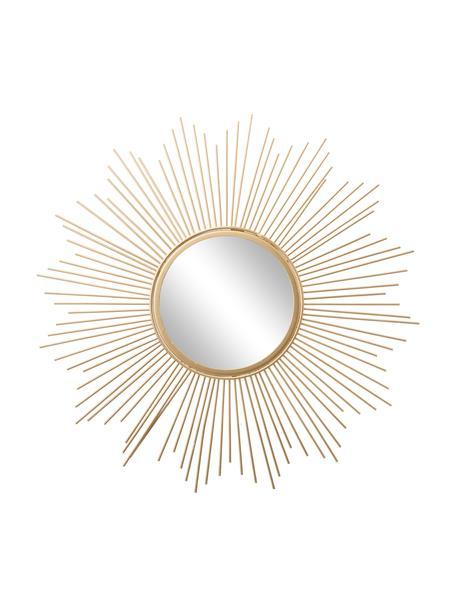 Espejo de pared Brooklyn, efecto vintage, Espejo: cristal, Dorado, Ø 50 cm