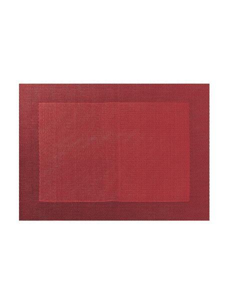 Manteles individuales de plástico Trefl, 2uds., Plástico (PVC), Rojo, An 33 x L 46 cm