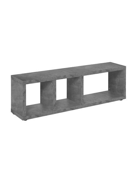 Graues Lowboard Berlin in Beton-Optik, Korpus: Spanplatte in Leichtbau-W, Oberfläche: Melaminschicht., Grau, 150 x 45 cm