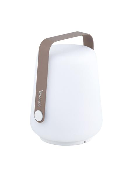 Mobile Dimmbare Aussentischlampe Balad, 3 Stück, Lampenschirm: Polyethylen, Griff: Aluminium, lackiert, Muskatbraun, Ø 10 x H 13 cm