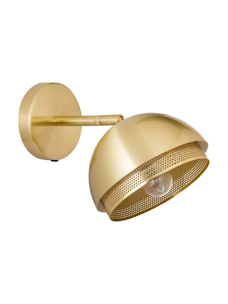 Wandleuchte Tamara mit Stecker, Lampenschirm: Metall, beschichtet, Messingfarben, Ø 21 x H 28 cm