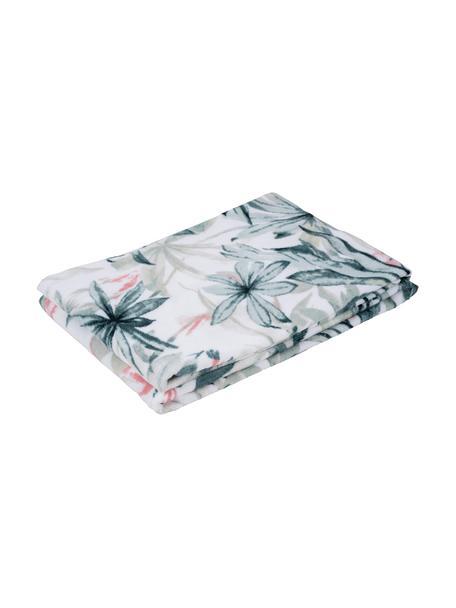 Handtuch Foglia in verschiedenen Grössen, mit tropischem Muster, 100% Baumwolle, Weiss, Mehrfarbig, Gästehandtuch