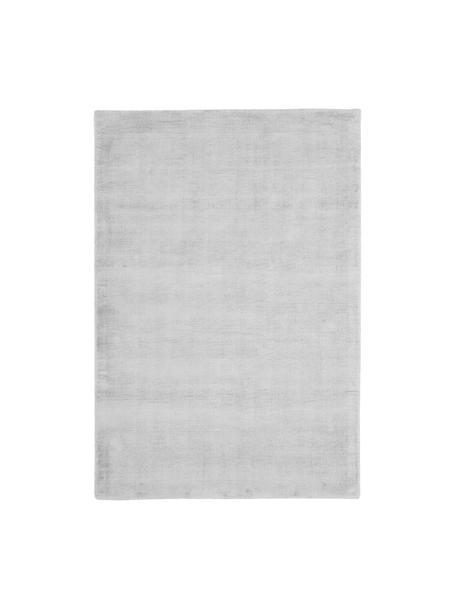 Tappeto in viscosa tessuto a mano Jane, Retro: 100% cotone, Grigio argento, Larg. 120 x Lung. 180 cm (taglia S)