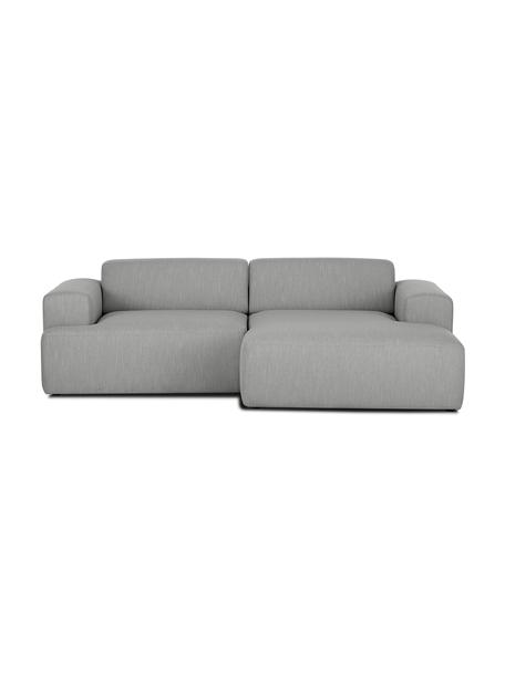 Ecksofa Melva (3-Sitzer) in Grau, Bezug: Polyester Der hochwertige, Gestell: Massives Kiefernholz, Spa, Füße: Kiefernholz, Webstoff Grau, B 240 x T 144 cm