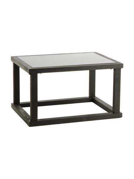 Mesa de centro Travis, Tablero: vidrio, Negro, beige, An 80 x F 60 cm