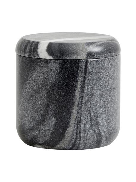 Opbergpot Aggaz, Marmer, Gemarmerd grijs, Ø 10 x H 10 cm