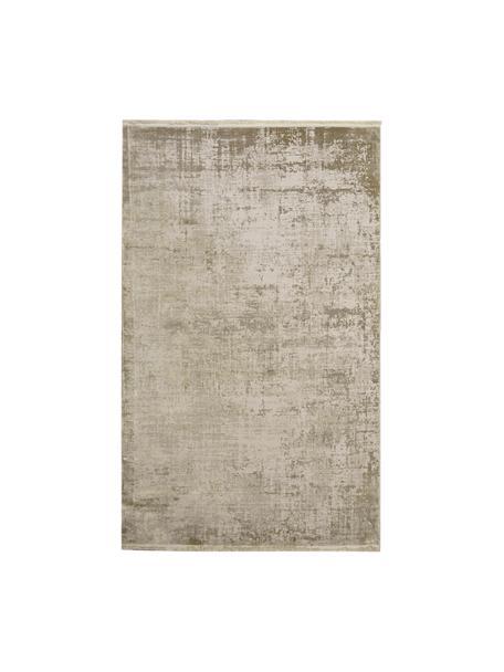 Schimmernder Teppich Cordoba in Beigetönen mit Fransen, Vintage Style, Flor: 70% Acryl, 30% Viskose, Beigetöne, B 80 x L 150 cm (Größe XS)