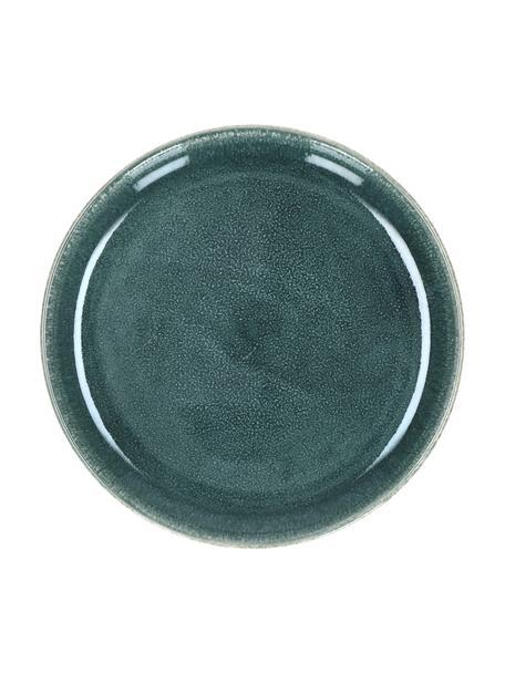 Piatto da colazione Audrey 2 pz, Terracotta, Verde grigio, Ø 20 cm