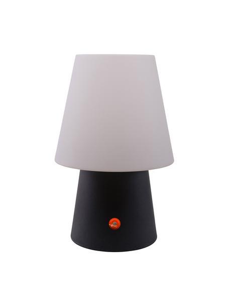Lampada da tavolo da esterno portatile No. 1, Materiale sintetico (polietilene), Bianco, antracite, Ø 18 x Alt. 29 cm