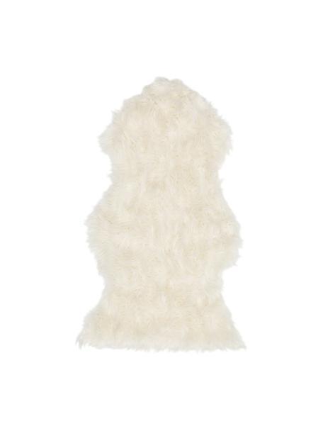 Imitatie schapenvacht Vancouver, glad, Bovenzijde: 80%acryl, 20%polyester, Onderzijde: glad polyester, Wit, 60 x 100 cm