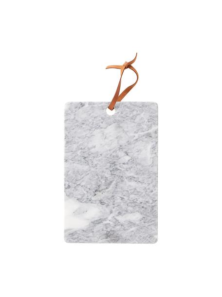 Tabla de cortar de mármol Bardi, Gris claro, veteado, An 30 x F 20 cm