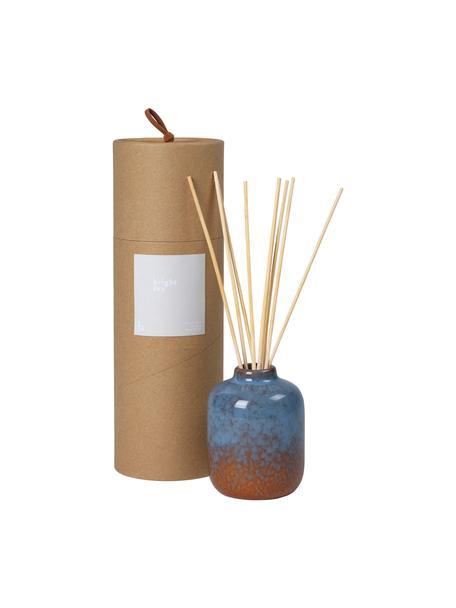 Ambientador Bright Sky (floral), Recipiente: cerámica, Marrón, azul, Ø 7 x Al 9 cm
