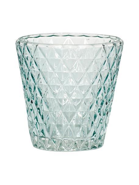 Portavelas Elsa, Cristal, Azul claro, transparente, Ø 10 x Al 10 cm
