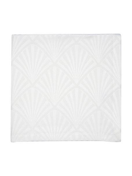 Servilletas de tela Celine, 4uds., estilo Art Déco, Blanco, An 40 x L 40 cm